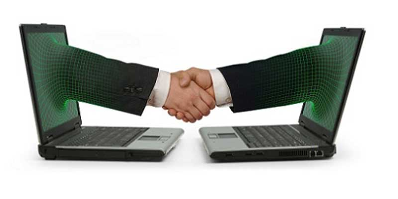 e-commerce, handshake