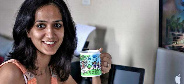 Shubhra Chadha, Shubhra Chadha Chumbak,  Shubhra Chadha with cup, Shubhra Chumbak