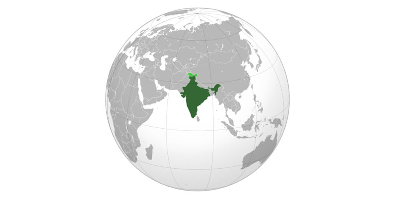 India, globe, map, world, superpower